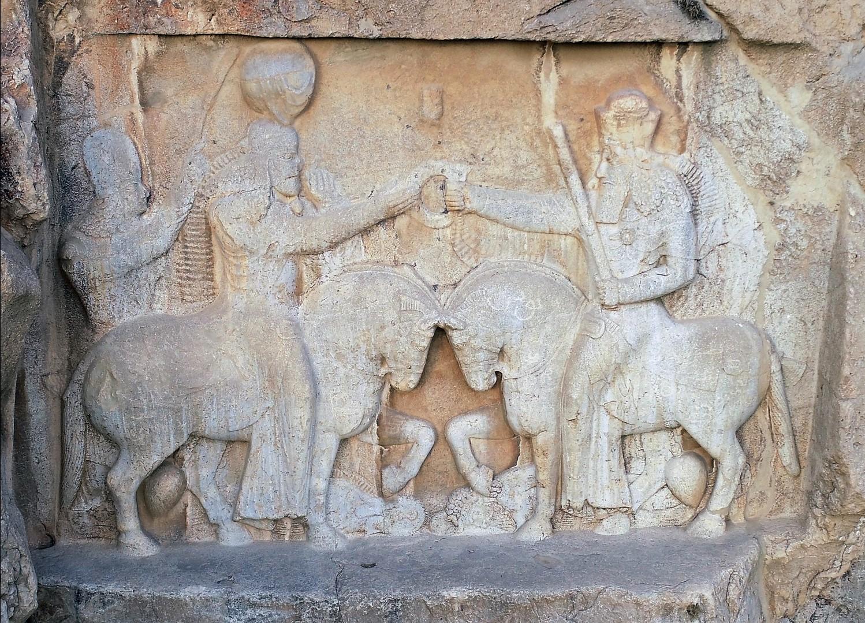 Figure 4. Naqsh-e Rostam (Central Fars, Iran): Naqsh-e Rostam I rock relief. (Source: photo P. Callieri, elaboration A. Eghra').