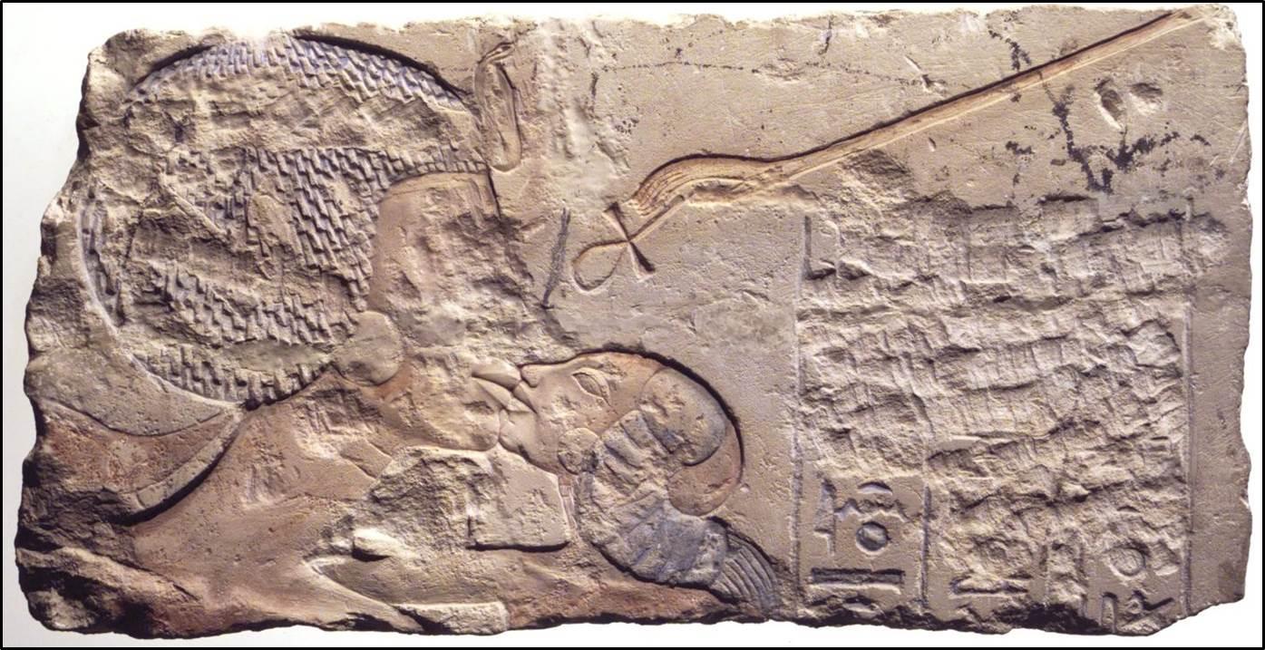 Рис. 6. Блок из Гермополя с изображением Нефертити. Нью-Йорк, Бруклинский музей (Инв. № 60.197.8). Block from Hermopolis with the image of Nefertiti. New York, Brooklyn Museum (Inv. № 60.197.8). https://www.brooklynmuseum.org/opencollection/objects/3700 (дата обращения: 27.01.2020)