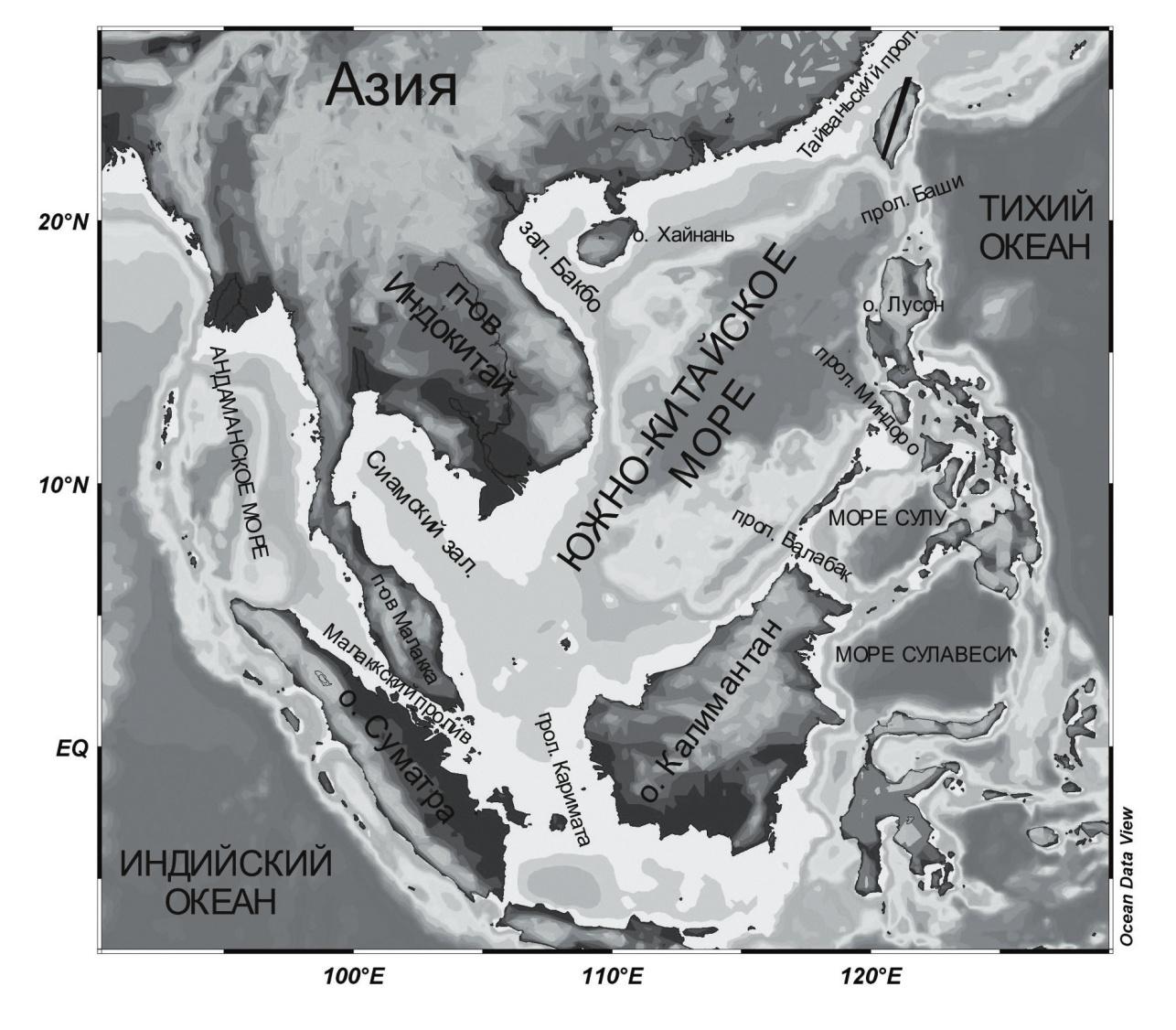 Рис. 1. Карта Южно-Китайского моря