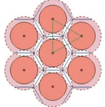 Рис.1 Расположение экономических центров в схеме кристаллической решетки (рисунок взят из источника: http://www.sworld.com.ua/konfer21/738.htm).