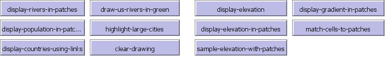 Рис.5. Кнопки изображения объектов на карте.