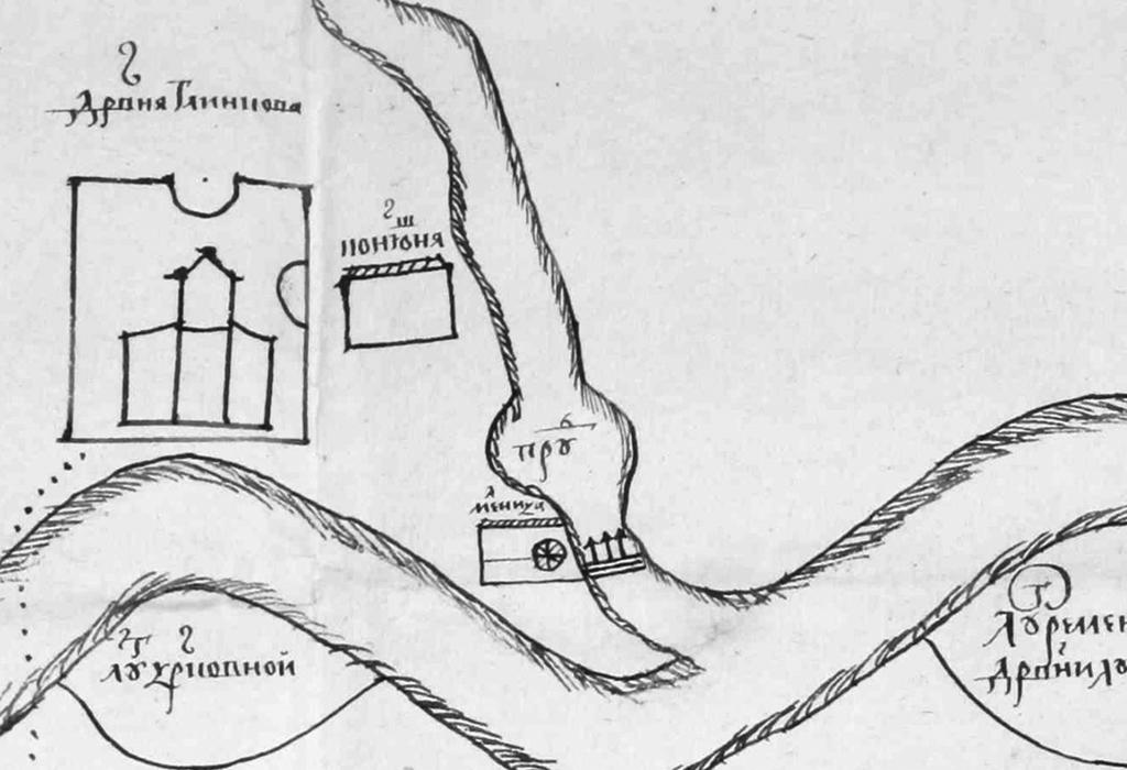 Рис. 10. План местности по реке Клязьме