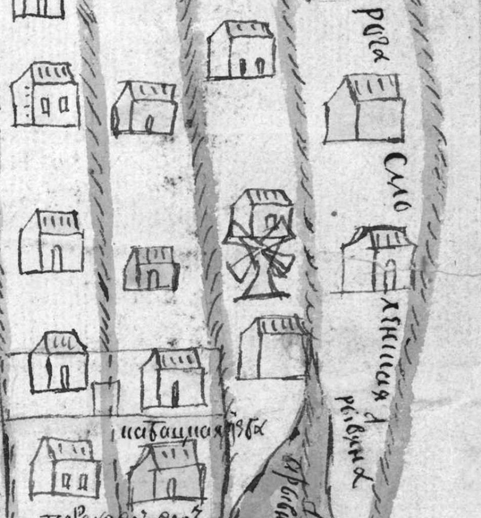 Рис. 14. Ветряная мельница на «Плане города Москвы от Тверских и Смоленских ворот до реки Ходынки»