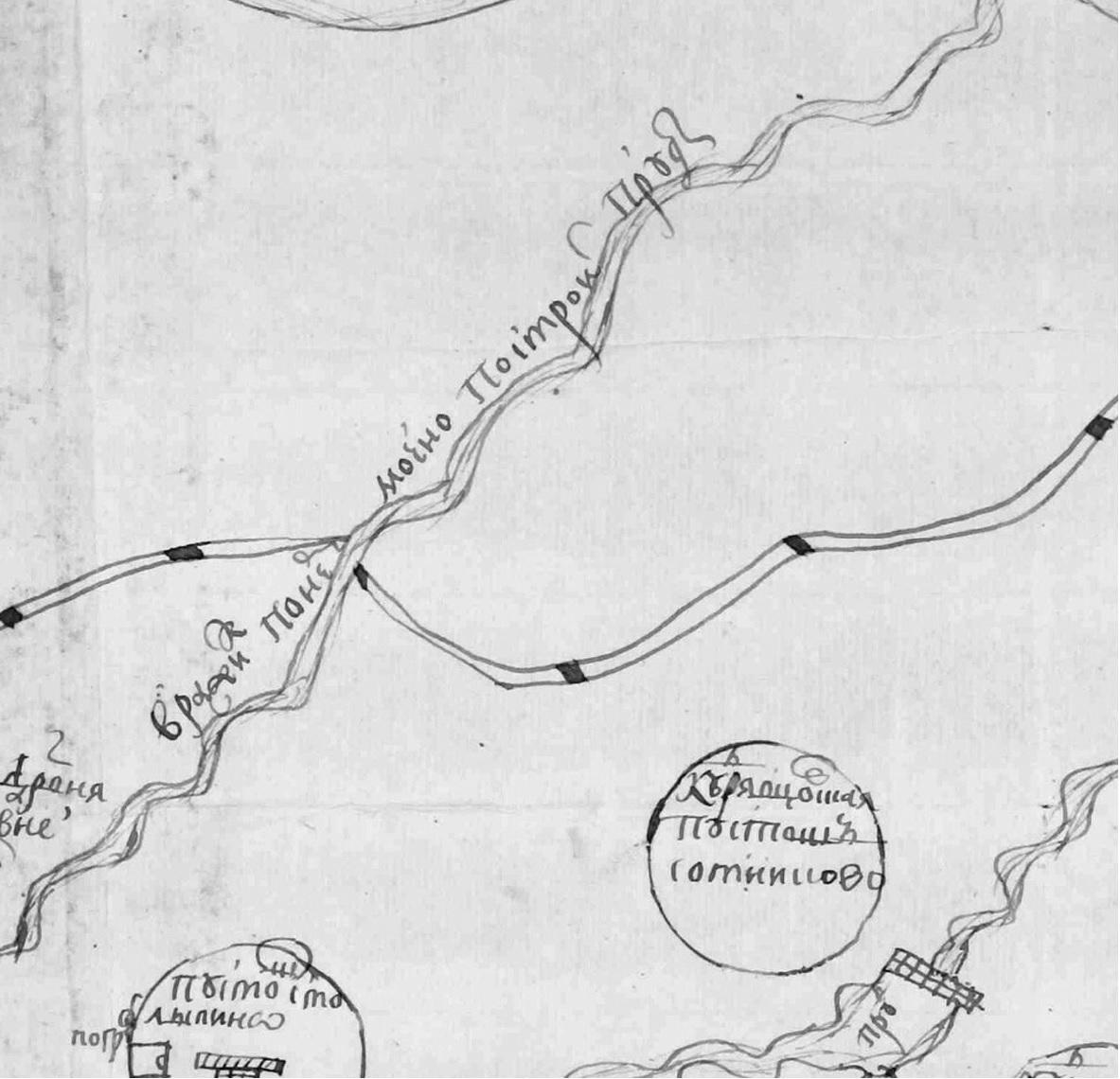 Рис. 18. План земель Троице-Сергиевой Лавры
