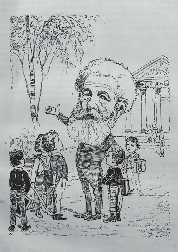 Рис. 2. Портрет-карикатура на А. М. Бекетова (Михневич. Наши знакомые… Вкладка)