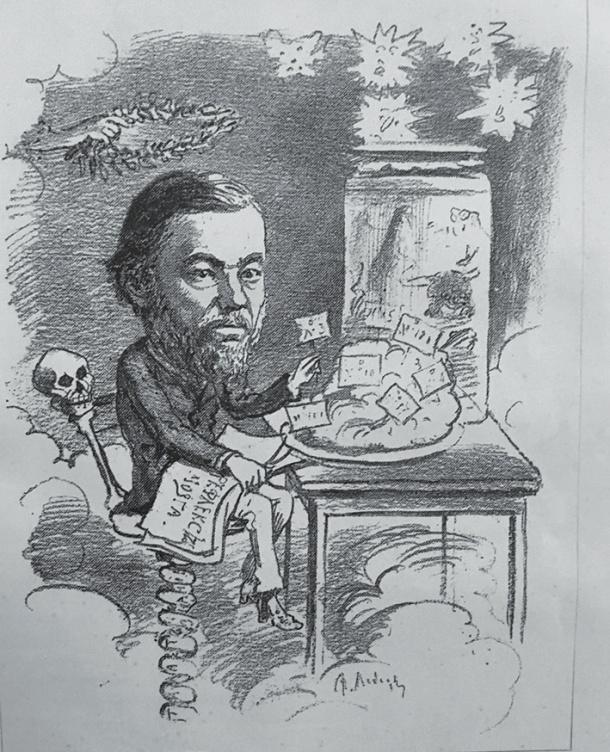 Рис. 5. Портрет-карикатура на И. М. Сеченова (Михневич. Наши знакомые… Вкладка)