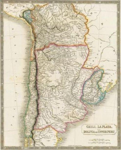 Рис. 2. Чили и Боливия, карта 1829 г. [11]