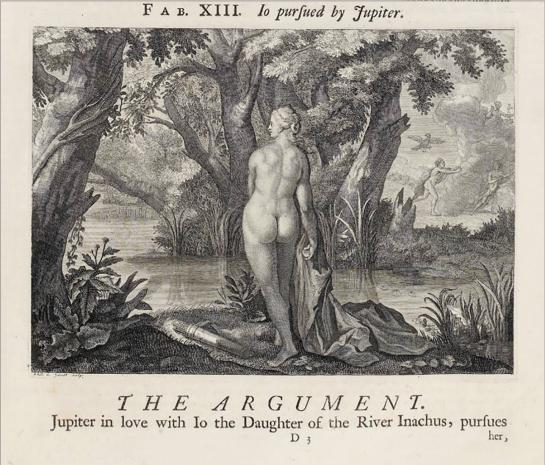 Илл. 7. Ио, преследуемая Юпитером. Иллюстрация к сборнику Ovid's Metamorphoses. Amsterdam, 1732 г.
