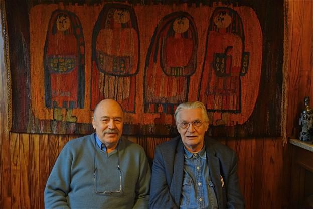 М. И. Каменский (слева) и К. Деллашери, экс-директор математической лаборатории Руанского университета (справа)