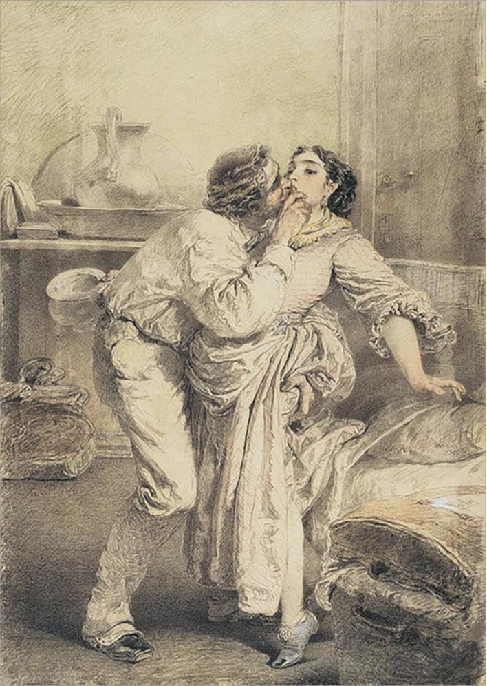 Михай Зичи. Любовь.1896