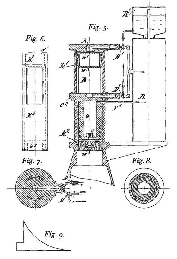 Рис. 10. Один из вариантов батарейного двигателя конструкции Б. Г. Луцкого