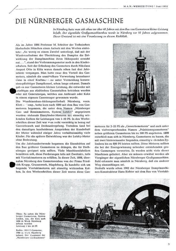 Рис. 18. Первая страница заводской газеты компании МАН «МАН-веркцайтунг» за июнь 1952 г.