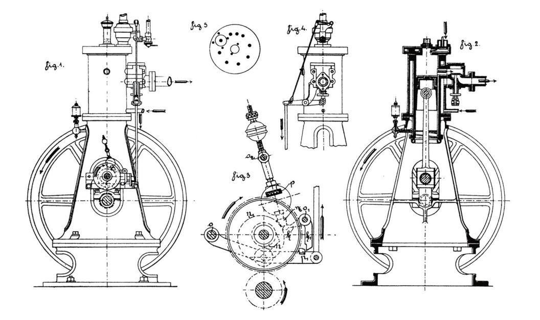 Рис. 3. Двигатель Б. Г. Луцкого 1889 г.
