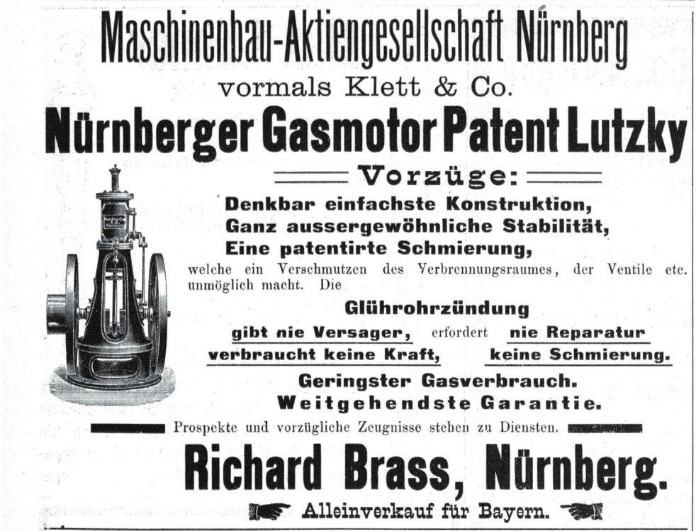 Рис. 6. Реклама двигателей Луцкого в Нюрнберге