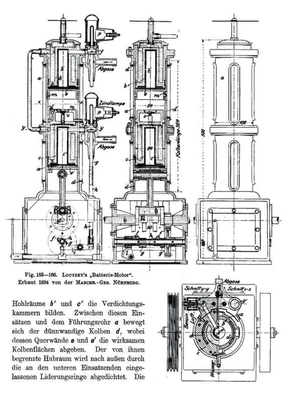 Рис. 9. Батарейный двигатель конструкции Б. Г. Луцкого