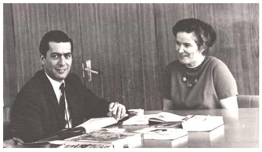 Марио Варгас Льоса и Элла Брагинская в Библиотеке иностранной литературы