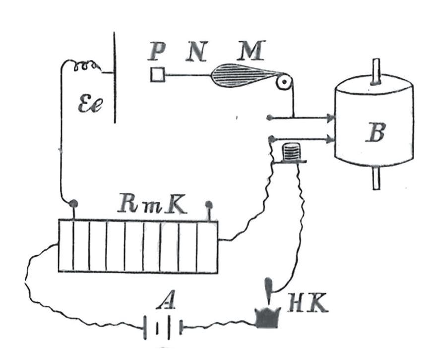 Рис. 2. Принципиальная схема экспериментальной установки С. И. Костина (Костин. К учению о физиологическом действии… С. 21.)