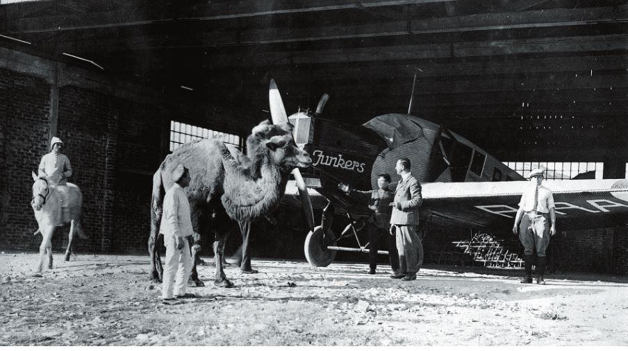 Рис. 5. Самолет «Добролета» в Средней Азии