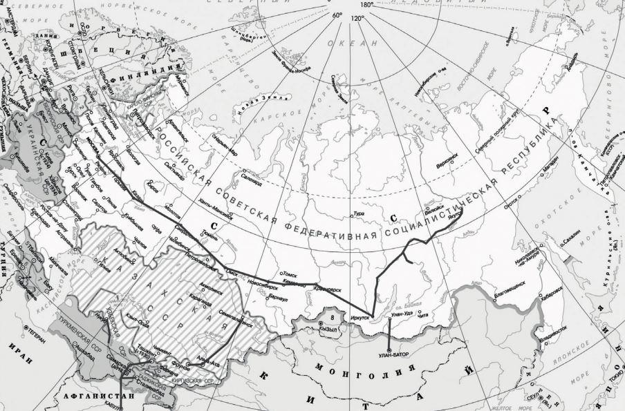 Рис. 9. Маршруты «Добролета», 1929 г.