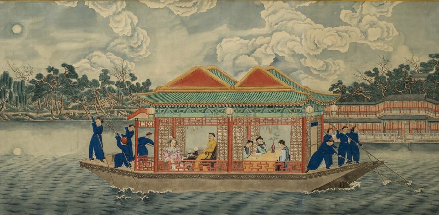 "Fig. 5. Unknown Painter (signed ""Lang Shining""). Moonlight Walk in the Xiyuan Park.