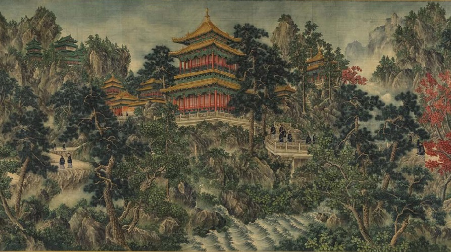 "Fig. 6. Unknown Painter (signed ""Lang Shining""). Ceremony of Attending the Taishan Mountains.