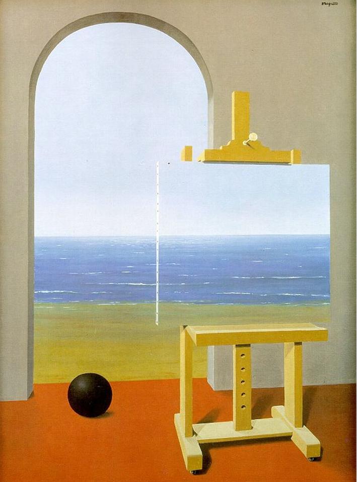Рис. 2. Рене Магрит. Условия человеческого существования. 1935