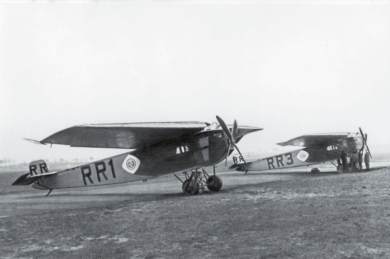 «Фоккеры F.III» на Ходынском аэродроме перед началом эксплуатации линии «Дерулюфта»