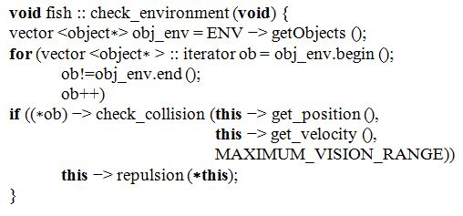 Листинг 4. Проверка наличия препятствий