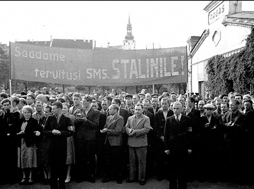 Встреча делегации эстонской Государственной Думы в Таллине после принятия Эстонии в состав СССР, август 1940 г.