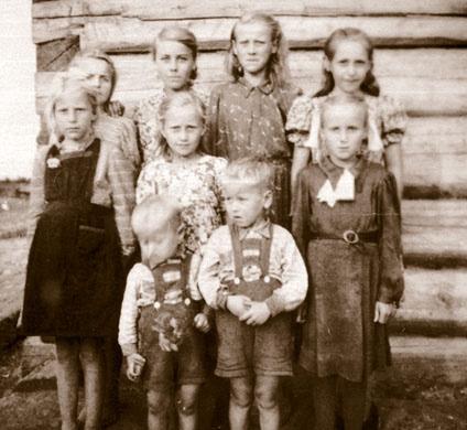 Депортированные эстонские дети в Сибири, 1949 г.