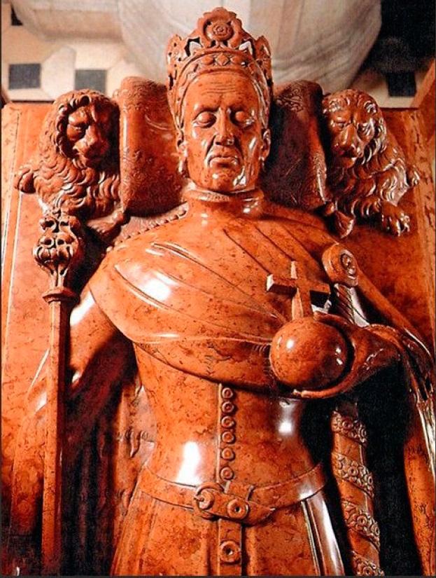 Рис. 21. Король Владислав II — Ягайло, фрагмент эффигии. Краков, XV в.