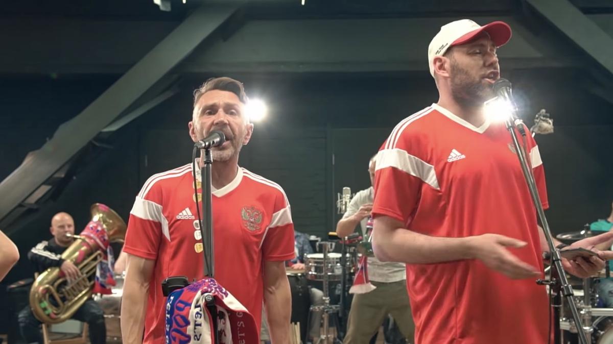 Шнуров и Слепаков записали песню о победах сборной России по футболку
